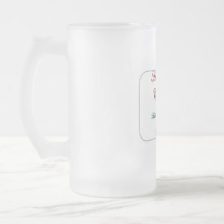 Coffee Culture at Christmas Frosted Glass Beer Mug