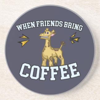 Coffee Culture - Coffee Snob - Funny Giraffe Coaster