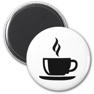 Coffee cup 2 inch round magnet