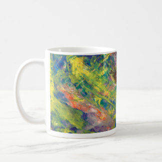 coffee Cup, Acrylic, Abstract Art Coffee Mug