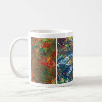 Coffee Cup, Acrylic Abstract Art Coffee Mug