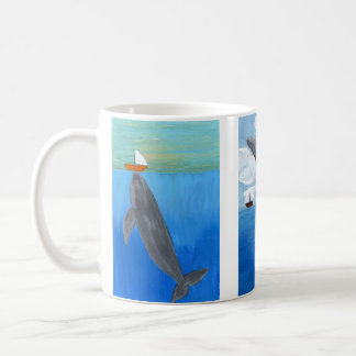 Coffee Cup, Acrylic Ocean Landscape Coffee Mug
