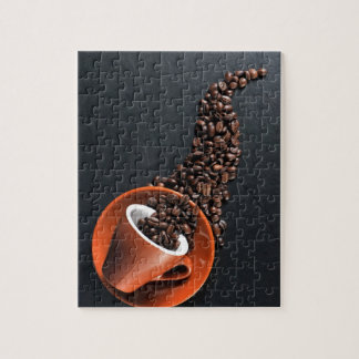Coffee cup and spilled beans jigsaw puzzle