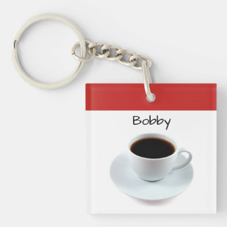 Coffee cup - black coffee - keychain gift