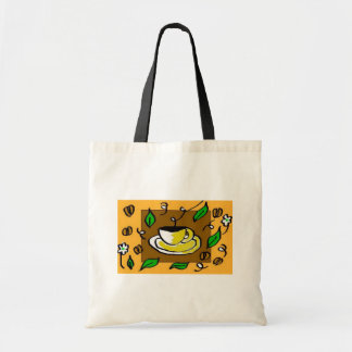coffee cup budget tote bag