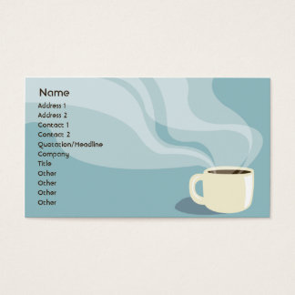 Coffee Cup - Business Business Card