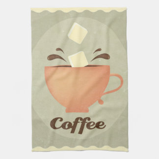 Coffee cup illustration kitchen towel