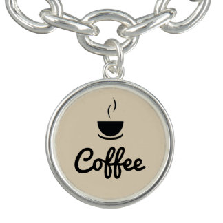 Coffee Cup / light brown Charm Bracelets