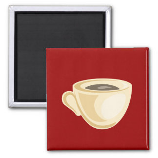 Coffee cup magnet