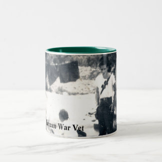 Coffee Cup/Mug Honoring Korean War Veterans. Two-Tone Coffee Mug