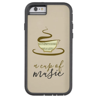Coffee Cup of Music Hand Drawn Minimalist Sketch Tough Xtreme iPhone 6 Case
