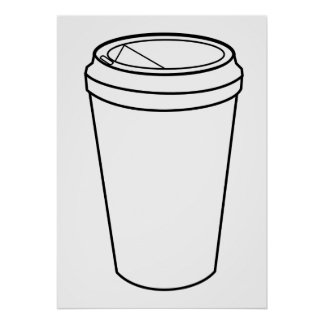 Coffee Cup (Paper To-Go) Poster