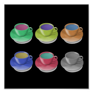 Coffee Cup Popart Poster