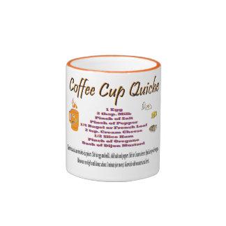 Coffee Cup Quiche Ringer Coffee Mug