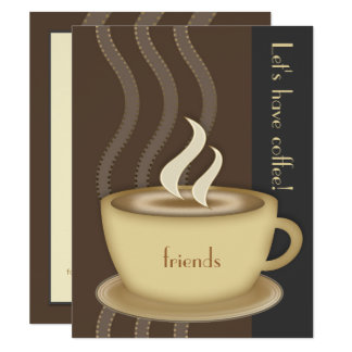 Coffee Cup Small Custom Invitation