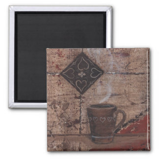 Coffee Cup Square Magnet