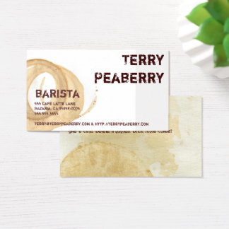 Coffee Cup Stain Shortcut Business Card
