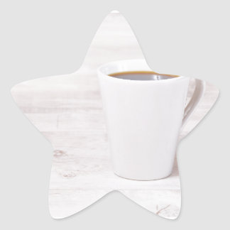 Coffee cup star sticker