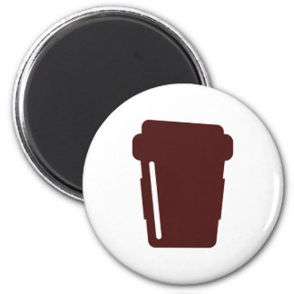 Coffee Cup To go 2 Inch Round Magnet