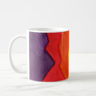 Coffee Cup, Watercolor Abstract Coffee Mug