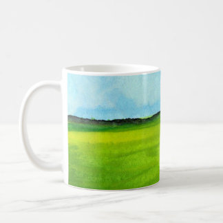 Coffee Cup with Art, Abstract Landscape