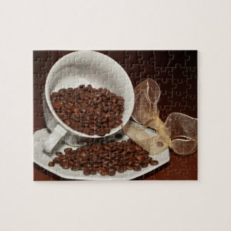 Coffee Cup with Beans Puzzle