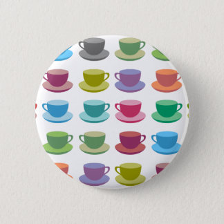Coffee Cups 2 Inch Round Button