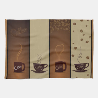 Coffee Cups & Beans Kitchen Towel