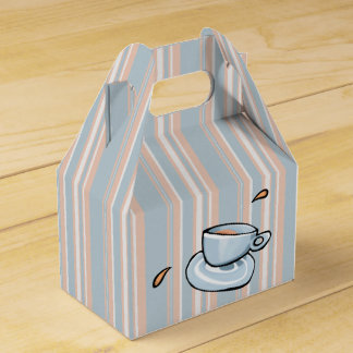 Coffee Cups Medley blue stripes cup Favour Boxes