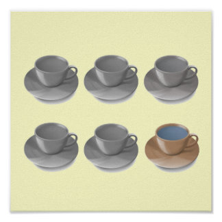 Coffee Cups Popart Poster