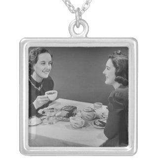 Coffee Date Silver Plated Necklace
