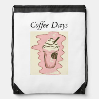 Coffee Days drawstring Drawstring Backpack