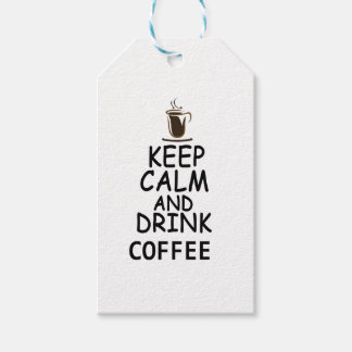 coffee design gift tags
