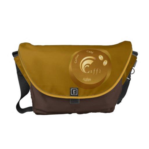 coffee design messenger bag