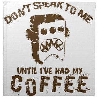 coffee design napkin