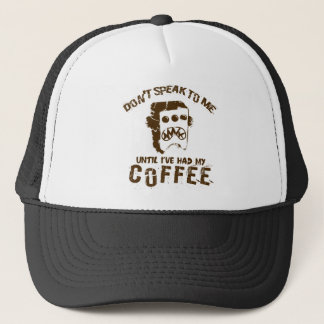 coffee design trucker hat