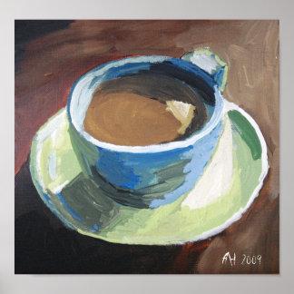 coffee dish. green. canvas print