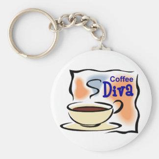 Coffee Diva Keychain