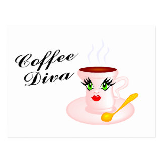 Coffee Diva Postcard