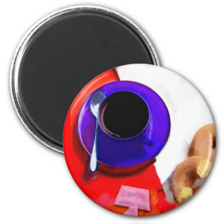 Coffee, Donuts and Low Cal Sweetener 2 Inch Round Magnet