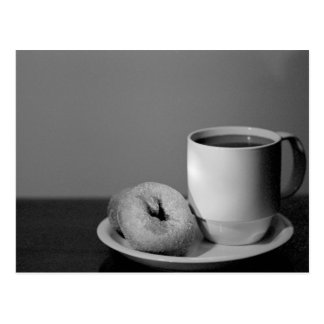 Coffee & donuts postcard