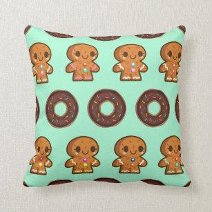 Coffee & Doughnuts throw cushion