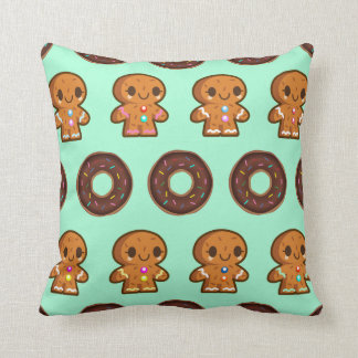 Coffee & Doughnuts throw cushion