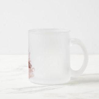 Coffee dragon frosted glass mug