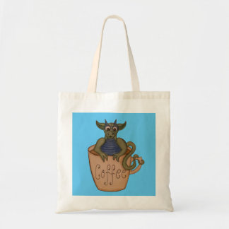 Coffee dragon tote budget tote bag