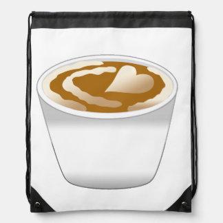 Coffee Drawstring Backpack