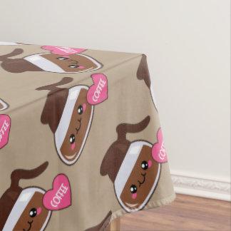 Coffee Emoji Lover (brown) Tablecloth