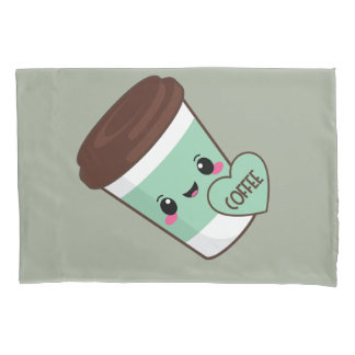 Coffee Emoji Lover Pillowcase