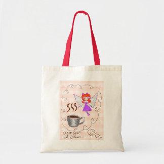 coffee fairy budget tote bag