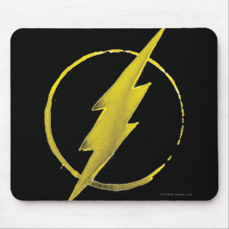 Coffee Flash Symbol - Yellow Mouse Pad